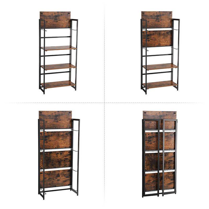 buy popular 1f0e4 72310 4-Tier Vintage Folding Storage Rack for Displaying | VASAGLE ...