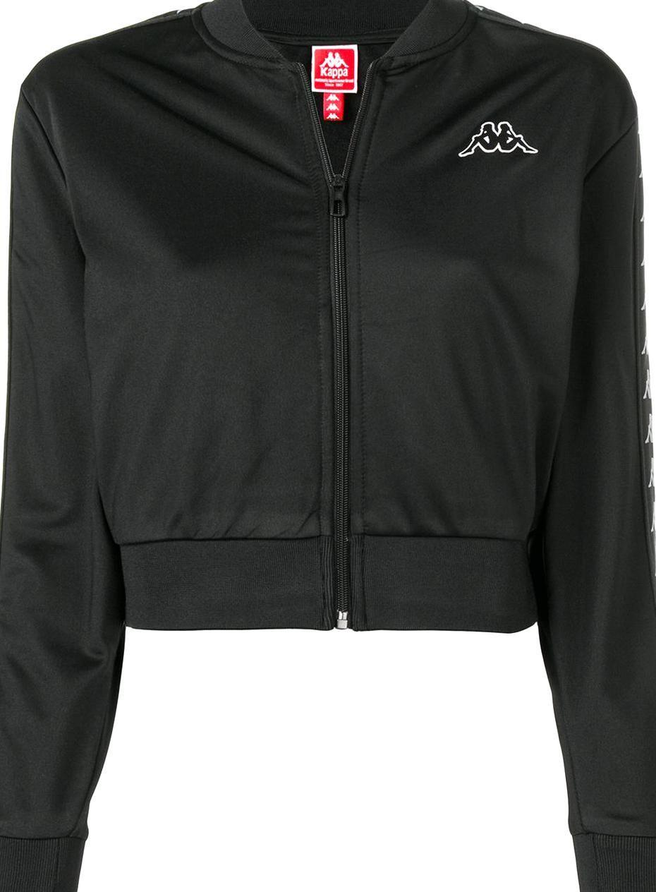 Kappa Logo Bomber Jacket Black Black Bomber Jacket Bomber Jacket Athletic Jacket [ 1264 x 930 Pixel ]