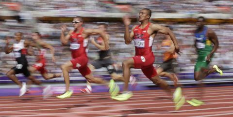 Ashton Eaton just broke 100m record at Olympics 2012....coached by MSM 'C69 Harry Marra.....#gomount