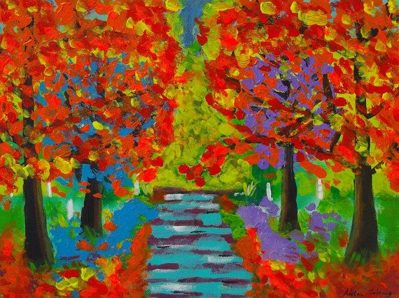 Autumn painting impression neo nstyle impressionist by Colourism, $75.00