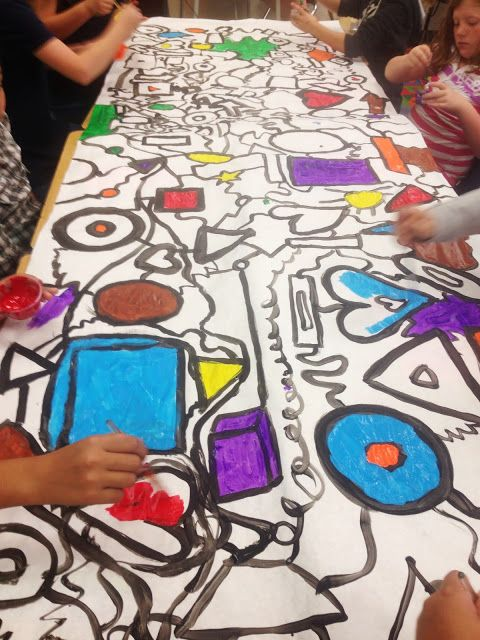 cool art mural- abstract from Oh' Boy 4th Grade: FIVE, Rocked the House, and toots