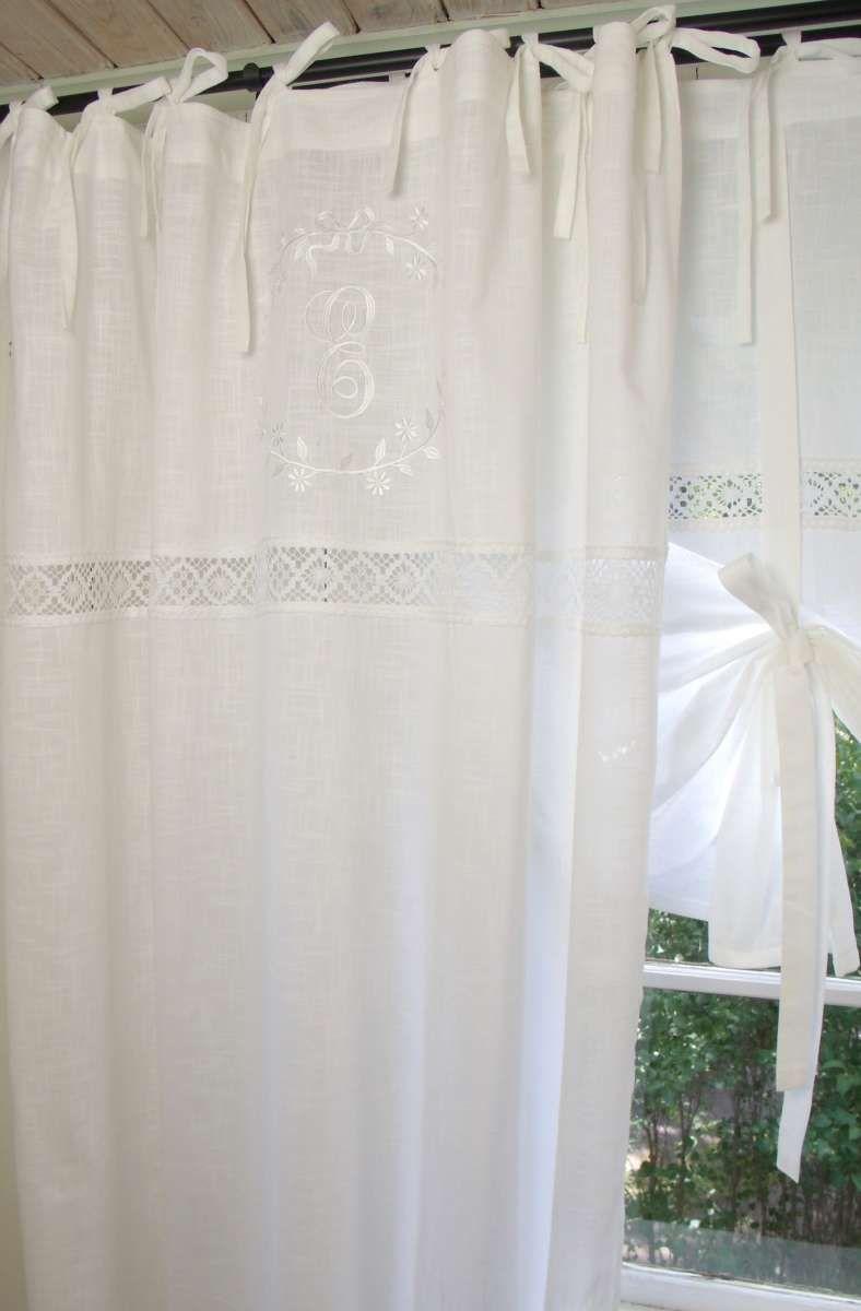 vorhang emilia weiß gardine 140x300 cm 2 stÜck  vorhänge