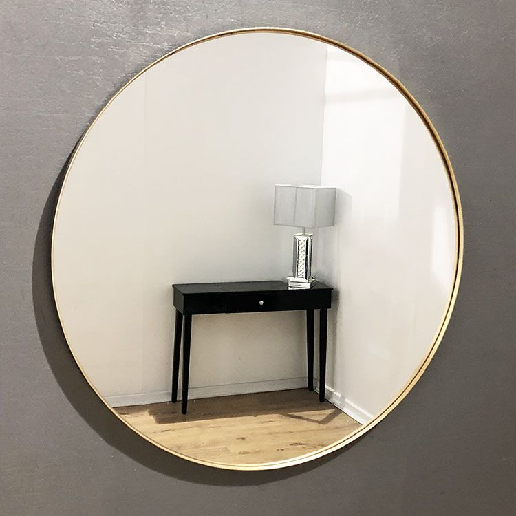 Large Round Gold Framed Arden Wall Mirror 70cm Mirror Wall Modern Mirror Gold Framed Mirror