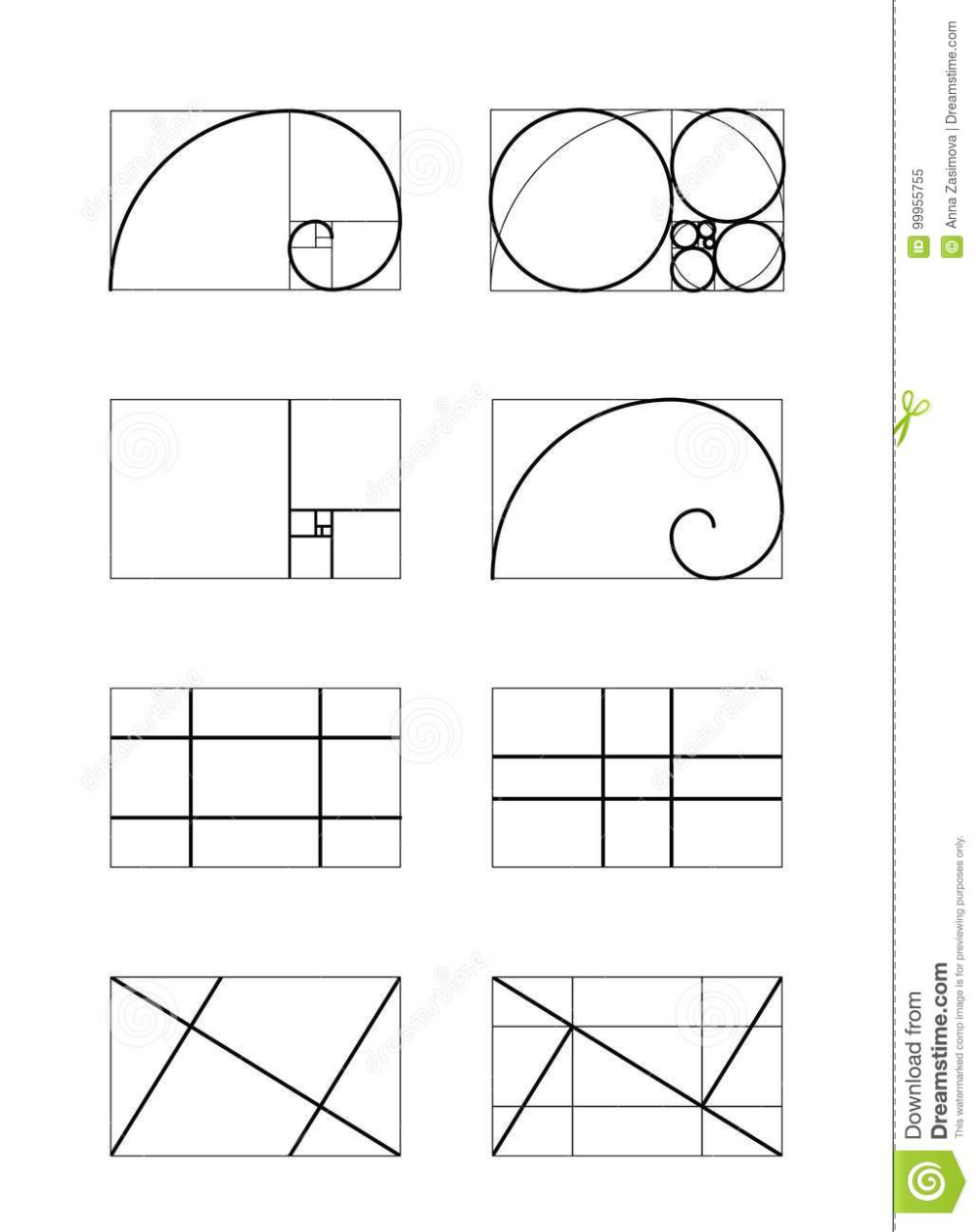 Golden Ratio Cover Template Stock Vector Illustration Of Harmony Dynamic 99955755 Golden Ratio In Design Golden Ratio Golden Ratio Art
