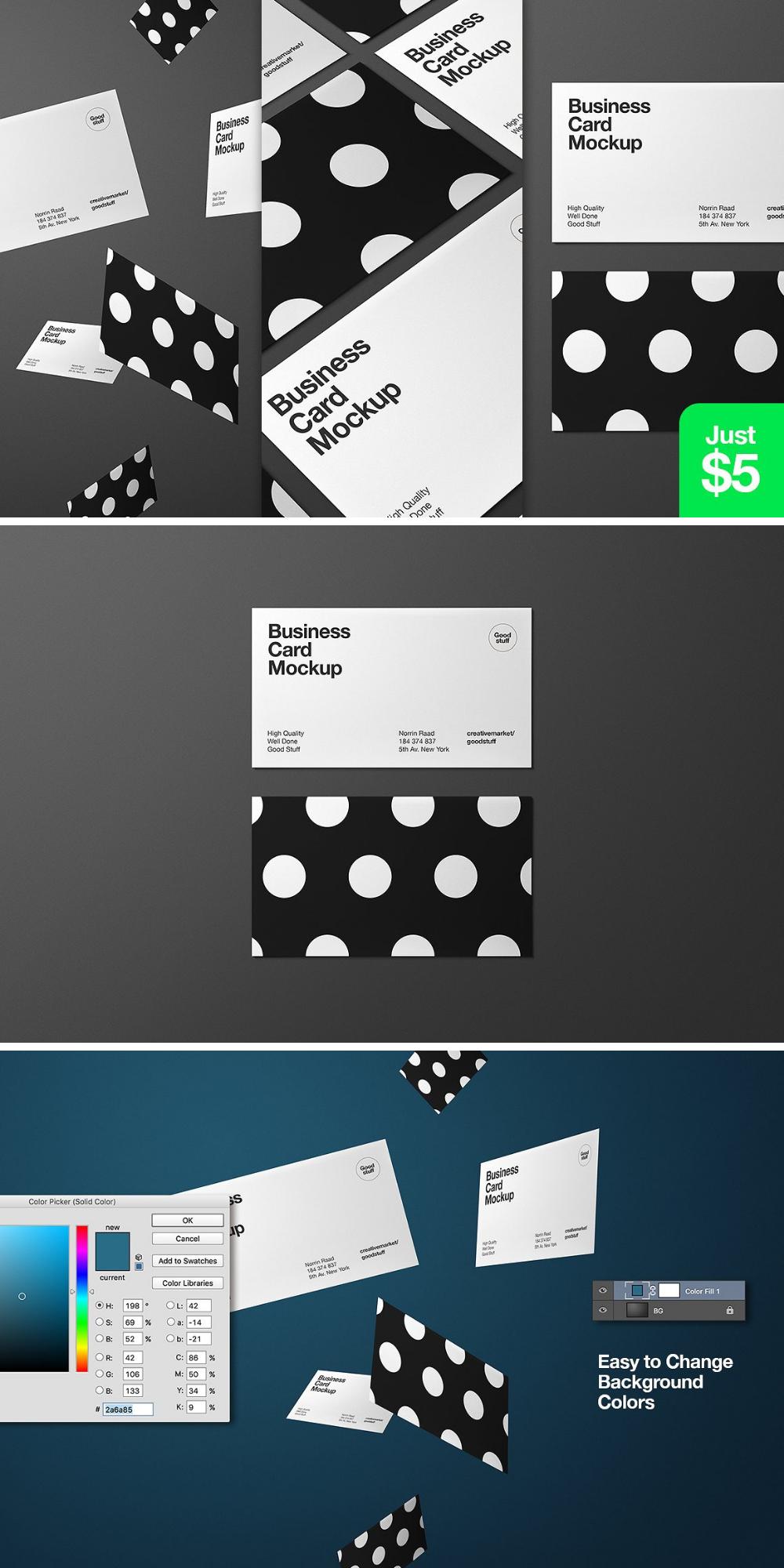Mockup Für Visitenkarten Geschäftsausstattung