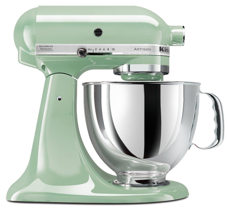 KitchenAid KSM150PSPT Artisan Series 5-Quart Mixer, Pistachio ...