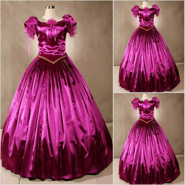 Adult Dark Fuchsia Southern Belle Prom Dresses Ball Gowns Costumes for Women