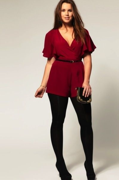 ba8dcc7dc62 5 beautiful plus size rompers for Christmas parties