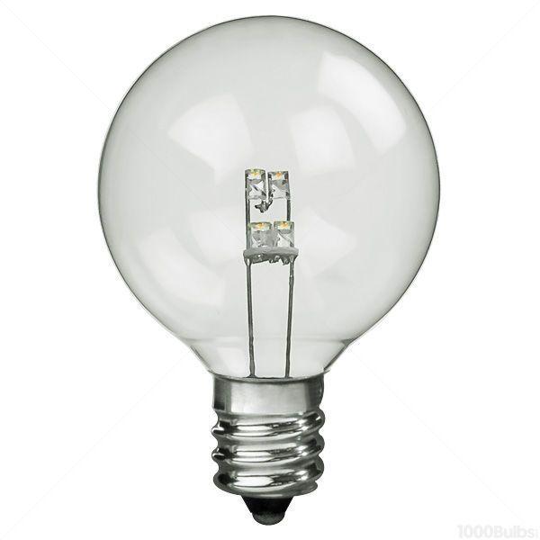 Led 0 6 Watt G16 Clear Globe 2 In Diameter Image Led Replacement Bulbs Christmas Light Bulbs Bulb