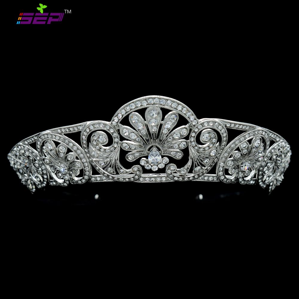 Bridal jewelry tiara - Find More Hair Jewelry Information About Wedding Jewelry Bridal Jewelry Tiara Crown Hair Accessories Pageant Flower