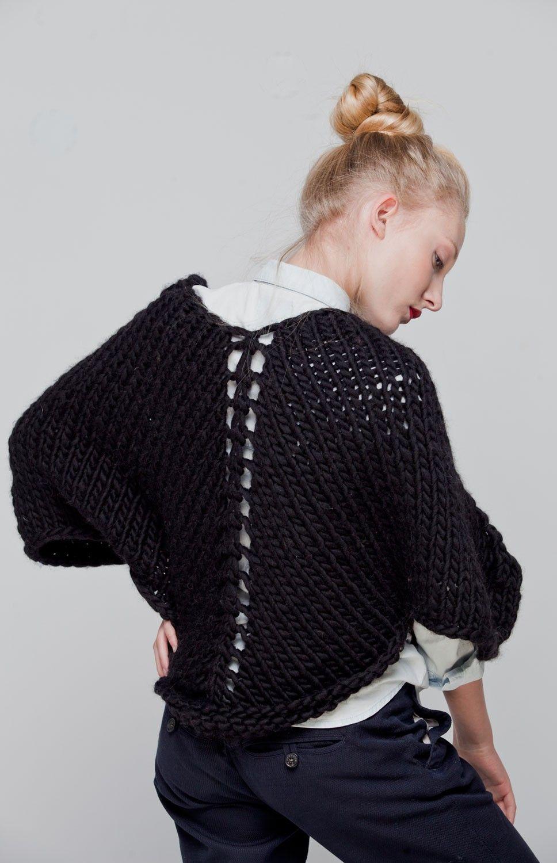 Bow Bolero | Imagen negro, Boleros y Agujas de tejer