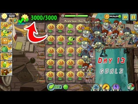 Plants Vs Zombies 2 Pirate Seas Day 13 Goals Android Ios