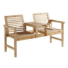 two seater companion love seat chair outdoor patio furniture wooden garden bench
