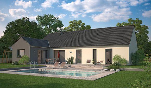 maison familiale arrière terrasse piscine