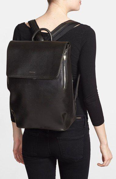 Matt & Nat 'Fabi' Faux Leather Laptop Backpack | Nordstrom | Laptop backpack women, Leather laptop backpack, Black leather backpack