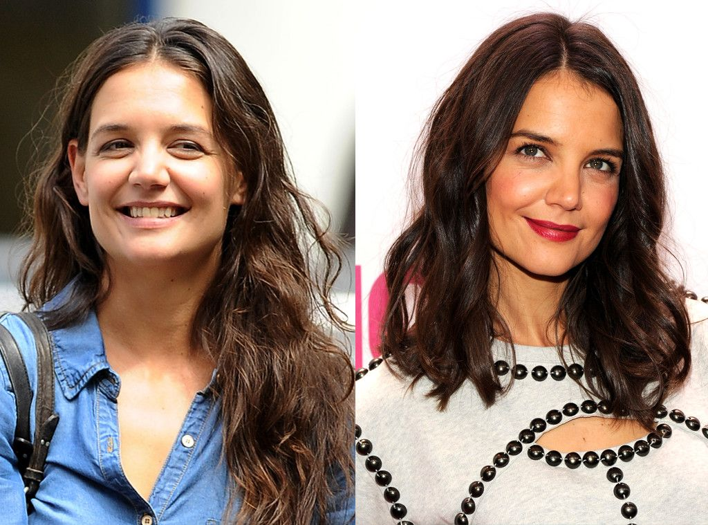 Katie Holmes From Celebrities Changing Hair Color Katie Holmes