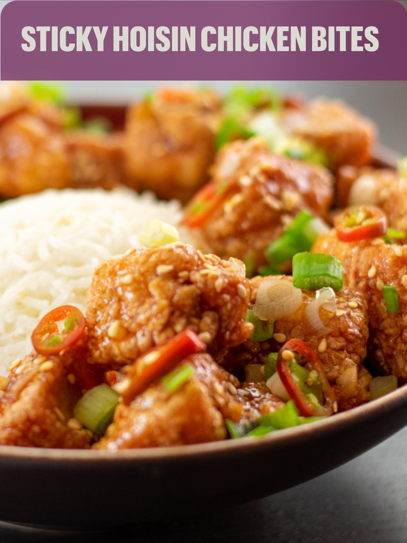 Sticky Hoisin Chicken Bites In 2020 Chicken Bites Hoisin Chicken Comfort Food Southern