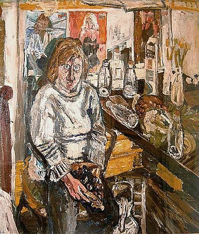 John Bratby, Jean and Table Top with Pineapple | John Bratby ...