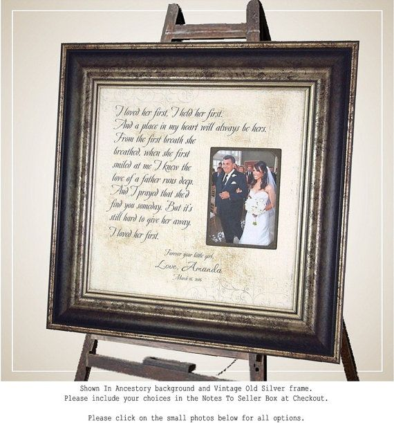 Father of the Bride Gift I Loved Her First by PhotoFrameOriginals ...