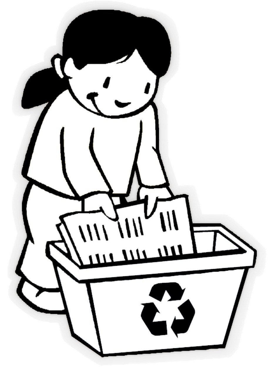 Recycling Coloring Pages to Encourage Love for the
