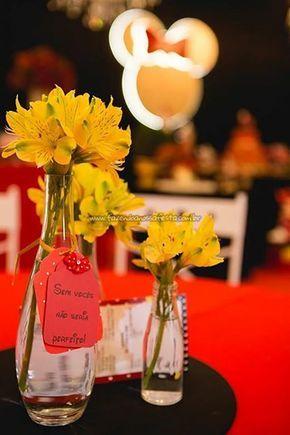 Centro de mesa Festa Minnie Vermelha da Maria Clara