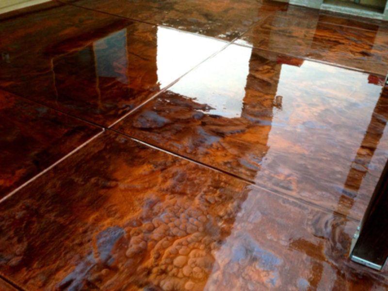 Copper Metallic Epoxy Flooring Home Garden Initiative