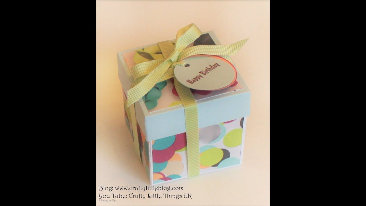 Cute colourful cube box box bag tutorial gift wrapping