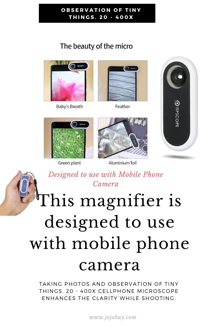 TIPSCOPE Magnifier Magnification Lens for Android iOS