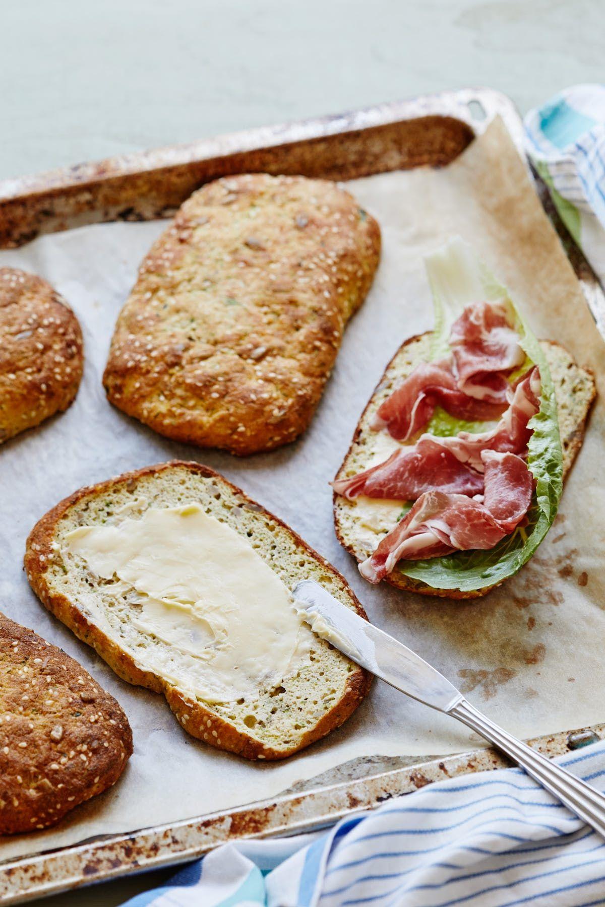 Low-Carb Zucchini Ciabatta