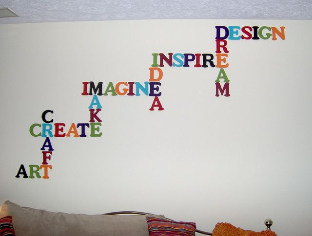 There Are Many Words Font Styles Designs And Sizes Of The Wall Word Art That We Can ChooseThis With Simple Cute Is