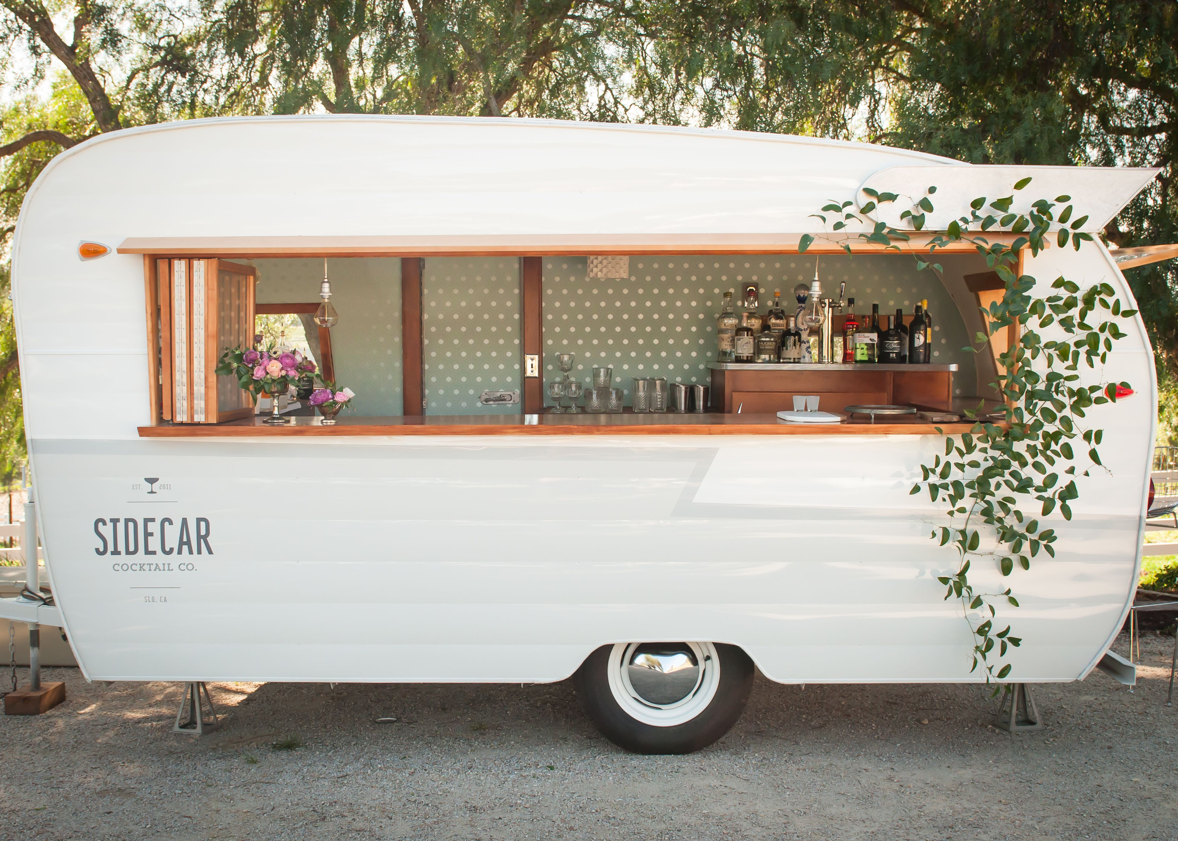 Let Sidecar Mix Custom Craft Cocktails Out Of Our 1961 Shasta Bar Trailer At Your Next Event