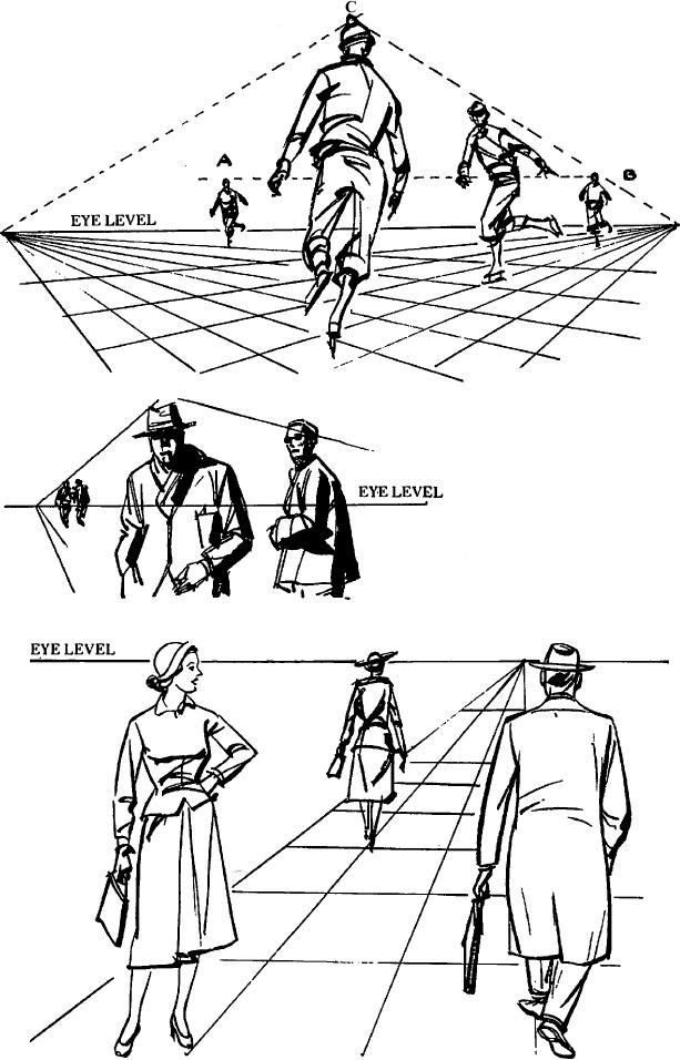 Drawing Figures People In Perspective Drawing With One Point Two