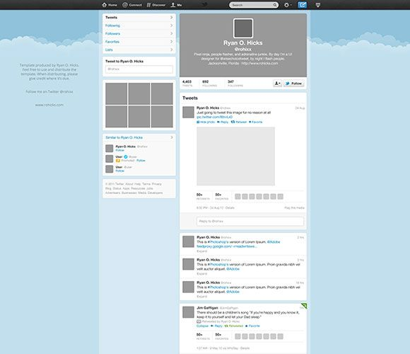 twitter template free psd graphic freebies psd ai sketch etc
