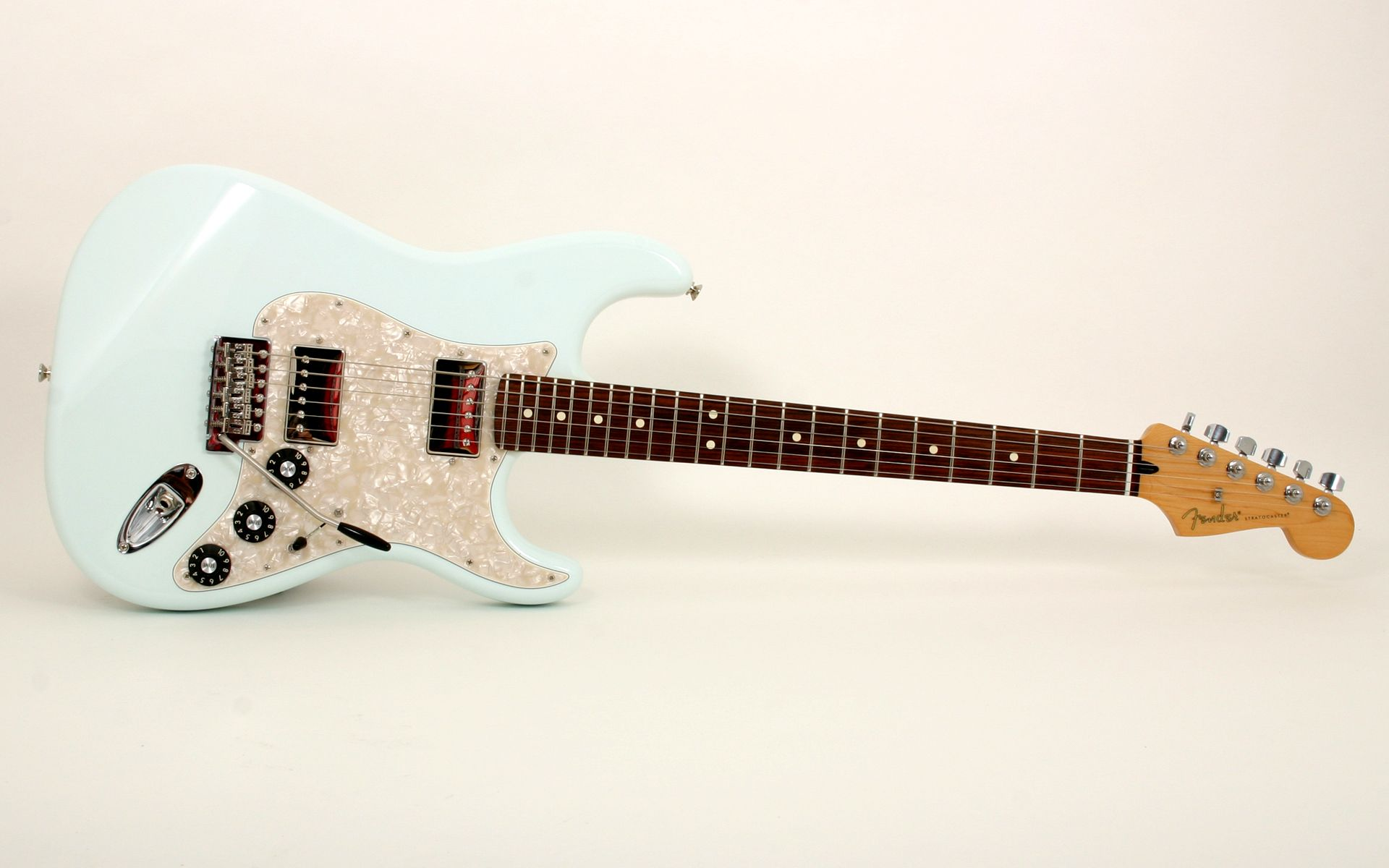 acme guitar works blacktop stratocaster hh rosewood fretboard sonic blue acme  [ 1920 x 1200 Pixel ]