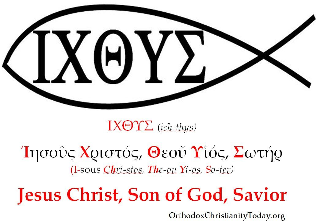 The symbol of the fish and the early christian church for Christian fish sign