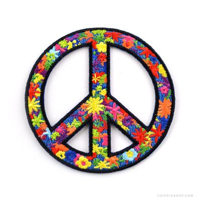 """Hippy Chick 3/"""" Circle Sew Iron On Patch Hippies Peace Love Gift Flower Child"""