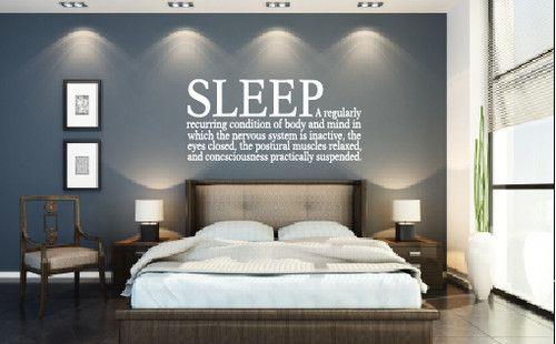 Definition or sleep or sleep synonyms on wall?