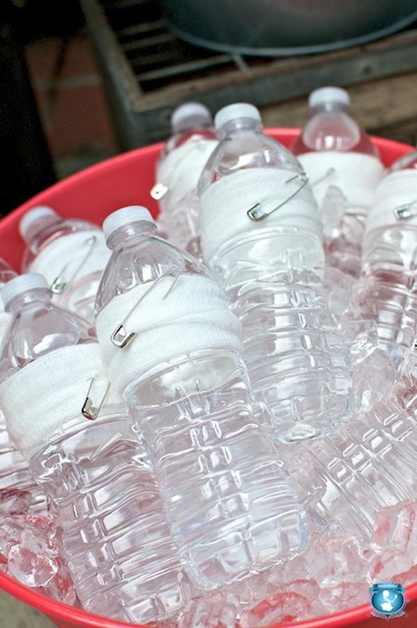Diaper Water Bottles For Baby Shower