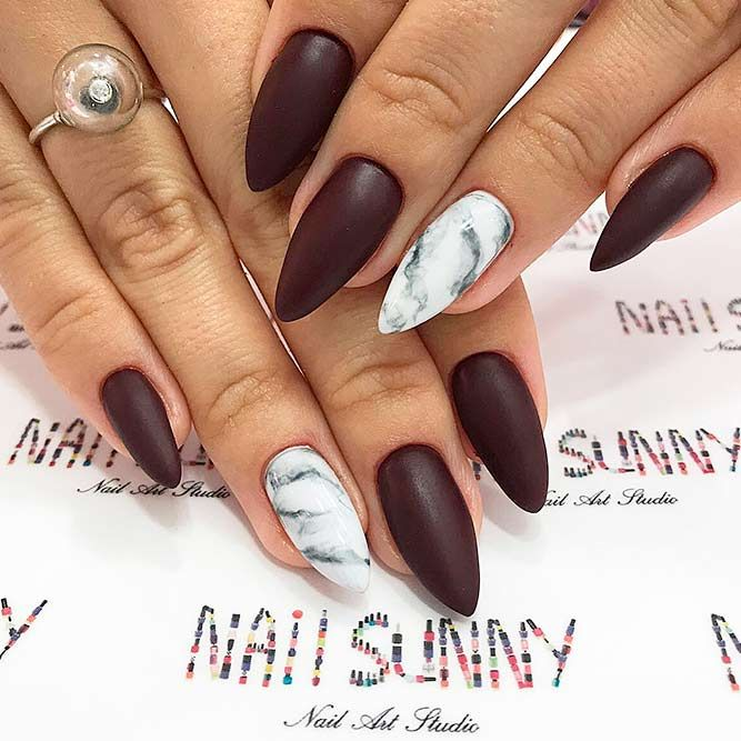 Fantabulous Pointy Nails Designs You Would Love to Have | Pointy ...