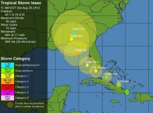 Tropical Storm Isaac: Indian River County now under a TS warning