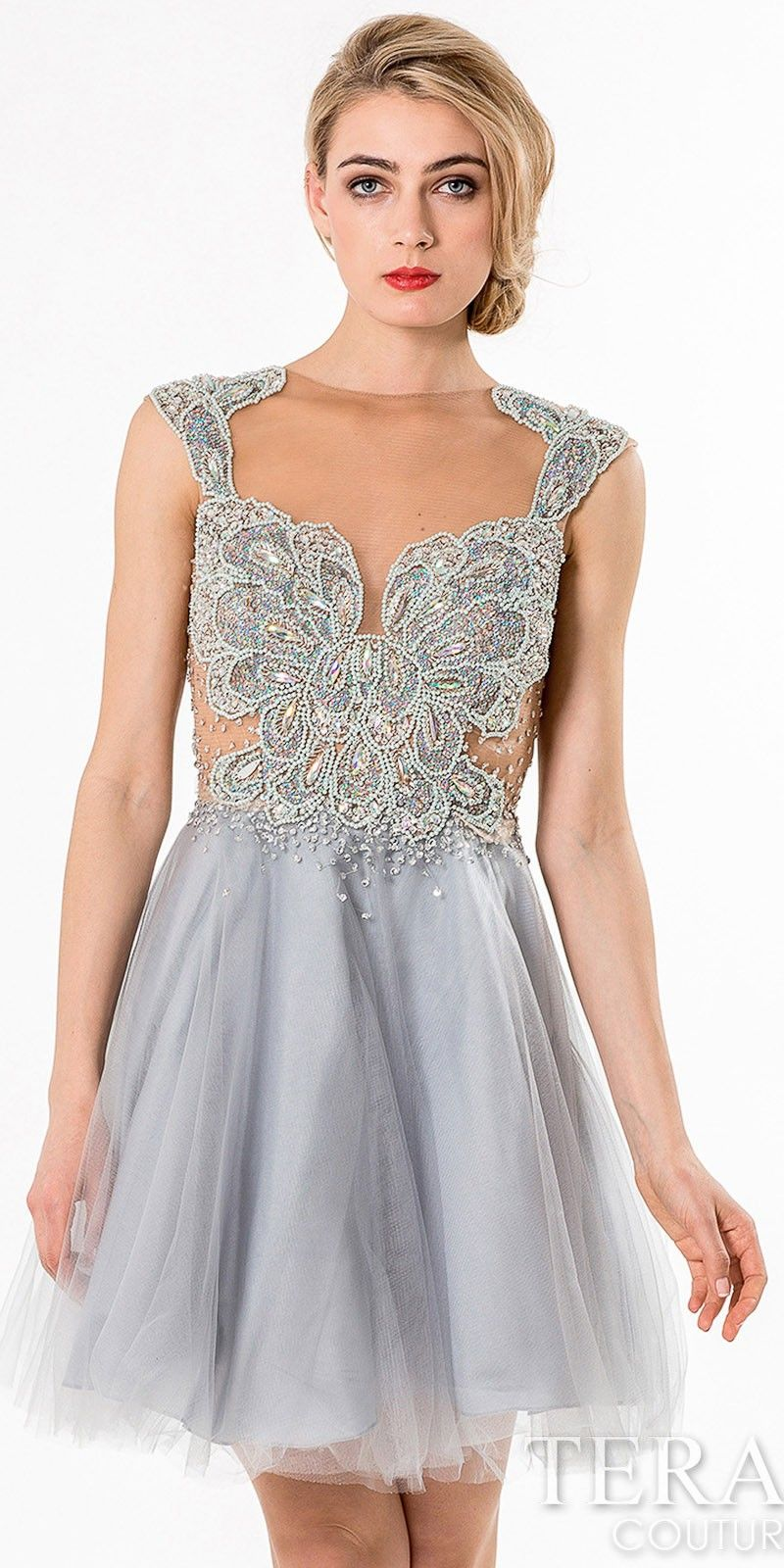 Ariel Two Piece Homecoming Dress by Terani Couture | Short Dresses ...