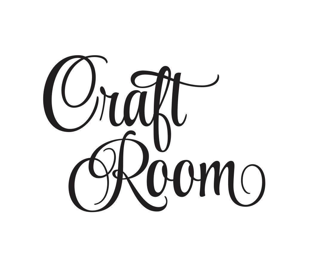 Vinyl lettering decals for crafts - Craft Room Vinyl Wall Decal Door Decal Vinyl Lettering For Home Office Studio Craft Room Script Style Vinyl Lettering Door Decal New
