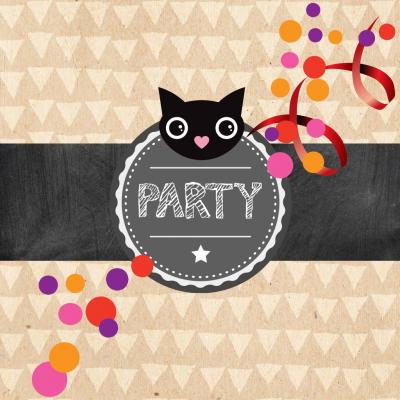 katzenparty angesagt? coole einladung zum geburtstag für, Einladungen
