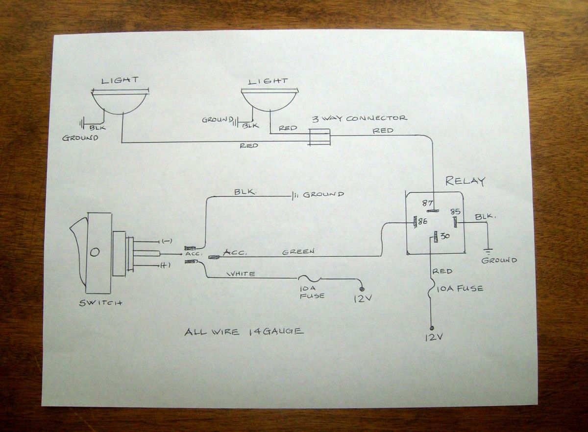 A Tidy Wiring Diagram Is A Must Led Fog Lights Light Switch Wiring Electrical Diagram