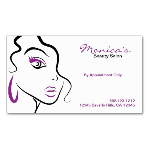 Elegant Beauty Salon with Appointment Date Business Card - microsoft word resume template017