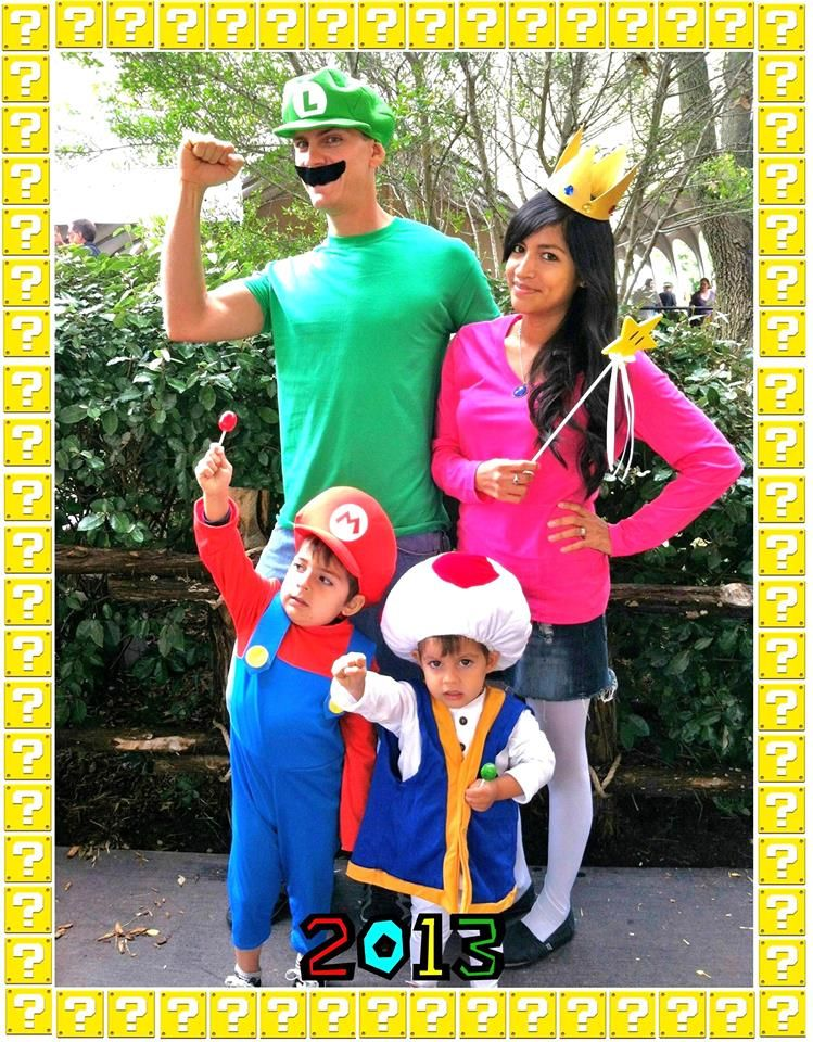 Super Mario Family Theme Halloween Costumes Halloween