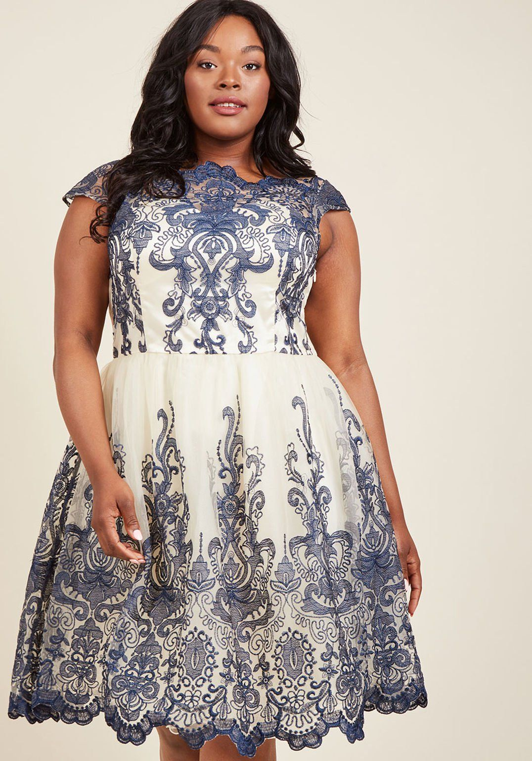 d28ed18528cf Chi Chi London Exquisite Elegance Lace Dress in Navy in 2019 ...