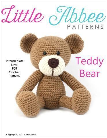 Crochet Teddy Bear Amigurumi Crochet Pattern #crochet # #amigurumi #handmade #diy #crochetteddybearpattern