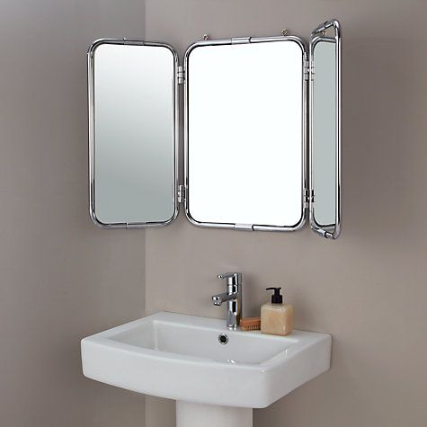 Bathroom John buy john lewis restoration triple bathroom wall mirror online at