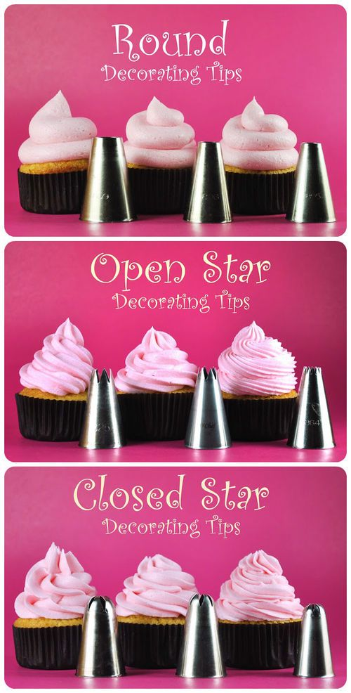 Cupcakes: Which Frosting Tip To Use For Different Looks  WWW.INFANTEENIEBEENIE.COM~
